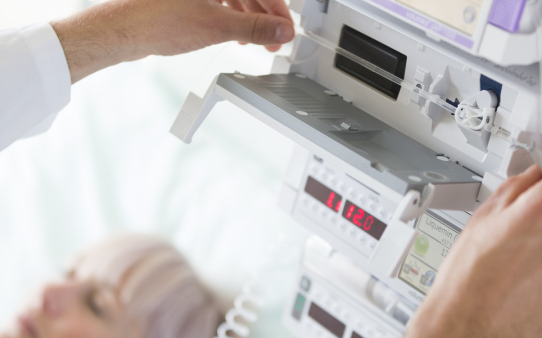 The different lines for intravenous medication administration