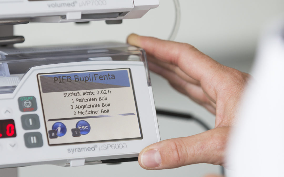 infusion pump with touchscreen